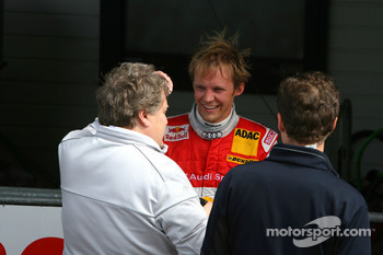 Mattias Ekström, Audi Sport Team Abt, talking with Norbert Haug, Sporting Director Mercedes-Benz