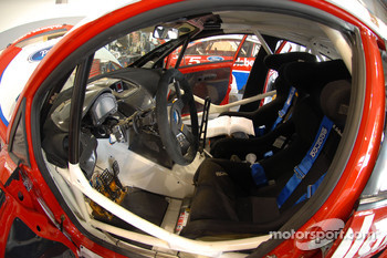 The inside of the Pikes Peak Hillclimb Ford Fiesta