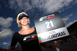 The grid girl for Kazim Vasiliauskas