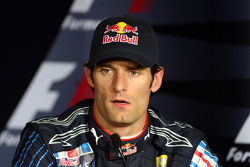 Post-qualifying press conference: third place Mark Webber, Red Bull Racing