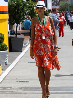 A lady in the paddock