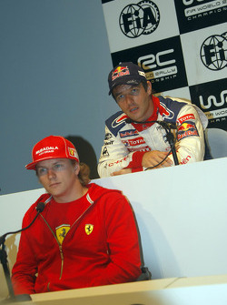 Press conference: Kimi Raikkonen and Sébastien Loeb