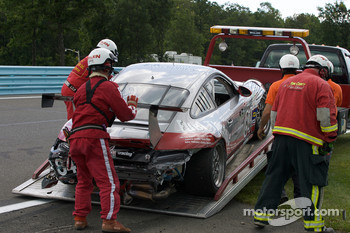 Damaged #86 Farnbacher Loles Racing Porsche GT3