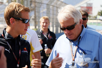Sebastian Vettel, Red Bull Racing, Charlie Whiting, FIA Safty delegate, Race director and offical starter