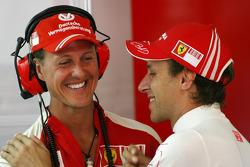 Michael Schumacher, Test Driver, Scuderia Ferrari and Luca Badoer, Scuderia Ferrari