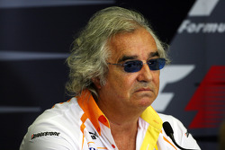 FIA press conference: Flavio Briatore, Renault F1 Team, Team Chief, Managing Director