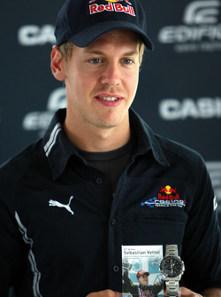 Sebastian Vettel, Red Bull Racing with his new Casio signature watch