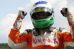Giancarlo Fisichella, Force India F1 Team on pole position