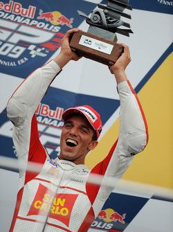 Podium: second place Alex De Angelis, San Carlo Honda Gresini