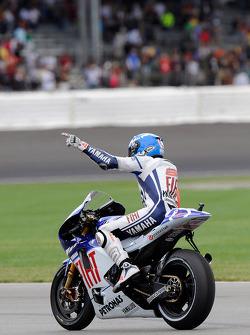 Race winner Jorge Lorenzo, Fiat Yamaha Team, celebrates