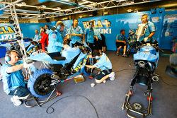 Rizla Suzuki MotoGP garage area