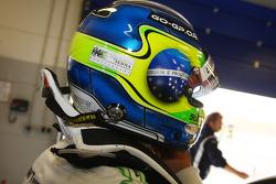 Augusto Farfus, BMW Team Germany, BMW 320si with an Ayrton Senna sticker on his helmet