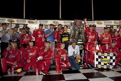 Victory lane: race winner Kasey Kahne, Richard Petty Motorsports Dodge celebrates with Richard Petty and his team