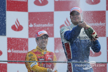 Podium: race winner Giedo Van der Garde celebrates