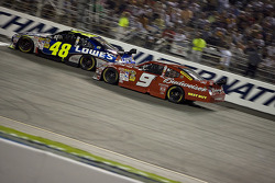 Jimmie Johnson, Hendrick Motorsports Chevrolet, Kasey Kahne, Richard Petty Motorsports Dodge