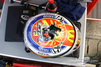 Helmet of  Graham Rahal, Newman/Haas/Lanigan Racing