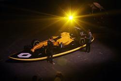 Cyril Abiteboul, Renault Sport F1 Managing Director with David Croft, Sky Sports Commentator