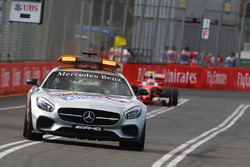 Kimi Raikkonen, Ferrari SF16-H behind the FIA Safety Car