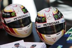 Mini helmets of Lewis Hamilton, Mercedes AMG F1 Team