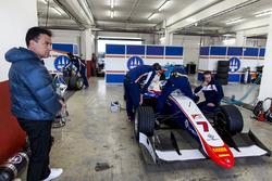 Jean Alesi watches his son Giuliano Alesi, Trident