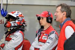 Oliver Jarvis, Loic Duval, Audi Sport Team Joest, Ralf Juttner, Technical director Audi Sport Team Joest