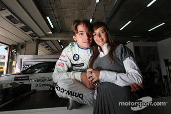 Augusto Farfus, BMW Team Germany, BMW 320si ans his wife Liri