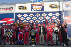 Victory lane: race winner Mark Martin, Hendrick Motorsports Chevrolet celebrates with his team