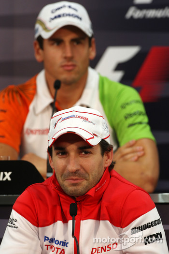 FIA press conference: Timo Glock, Toyota F1 Team, Adrian Sutil, Force India F1 Team