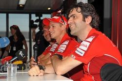 Ducati press conference with Casey Stoner, Ducati Marlboro Team