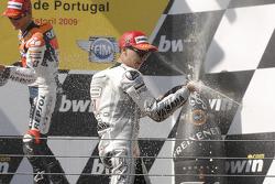 Podium: race winner Jorge Lorenzo, Fiat Yamaha Team celebrates with champagne