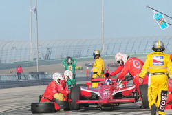 Dario Franchitti makes a pitstop
