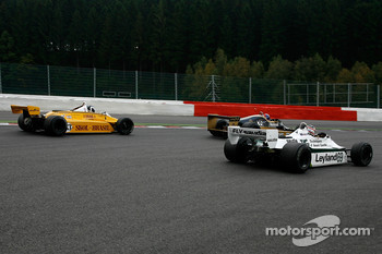 #35 Steve Allen Arrows A1; #33 Jean-Michel Martin Fittipaldi F8; #69 Michael Fitzgerald Williams FW07
