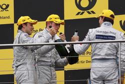 Podium: champagne for Paul di Resta, Team HWA AMG Mercedes C-Klasse, Bruno Spengler, Team HWA AG, AMG Mercedes C-Klasse, Gary Paffett, Team HWA AG, AMG Mercedes C-Klasse, Hans-Jürgen Mattheis, Teammanager HWA Mercedes