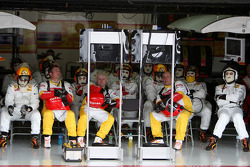 Renault F1 Team watch the race