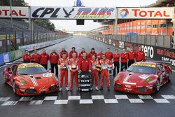 FIA-GT GT2 champion team: #50 AF Corse Ferrari F430: Toni Vilander, Gianmaria Bruni and #51 AF Corse Ferrari F430: Alvaro Barba Lopez, Niki Cadei