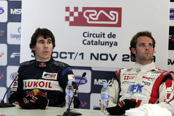 Robert Wickens and Andy Soucek in the post qualifying press conference