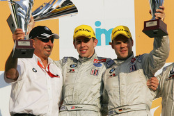 LMGT2 podium: class winners Tom Milner and Dirk Muller with Bobby Rahal