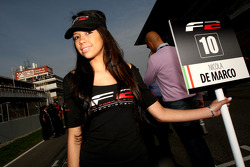 Grid girl for Nicola De Marco
