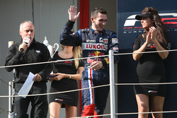 Mikhail Aleshin on the championship podium