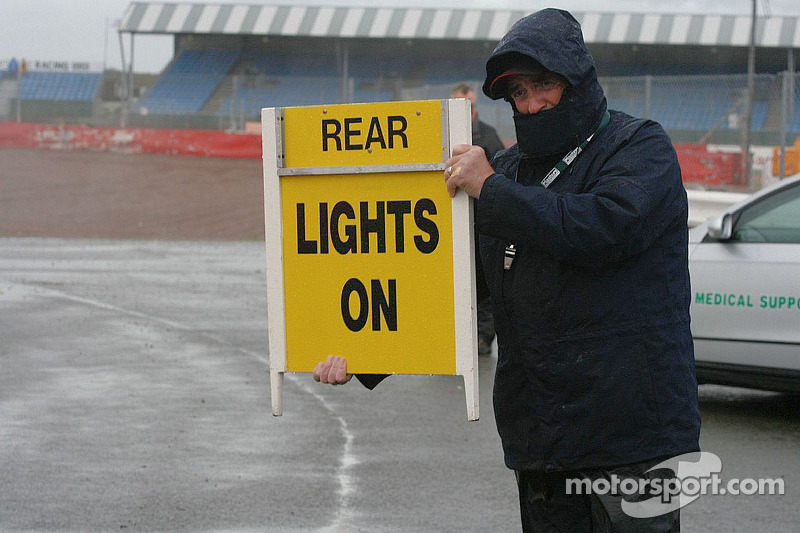 Conditions at Silverstone were awful