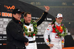 Podium: Race of Champions winner Mattias Ekstrm with second place Michael Schumacher