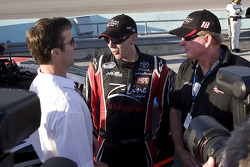J.D. Gibbs, Kyle Busch and Z-Line Designs owner Jim Sexton