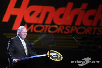 Rick Hendrick on stage