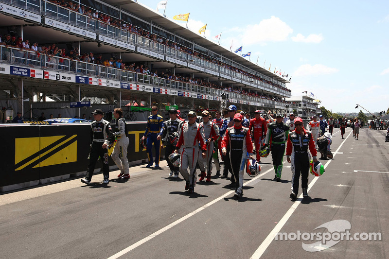 Drivers make their way to the end of year photo