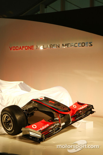 The McLaren MP4-25 under cover