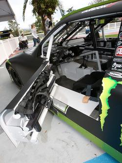 The street-legal Toyota NASCAR Sprint Cup car of Robby Gordon