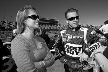 A.J. Allmendinger, Richard Petty Motorsports Ford with his lovely wife