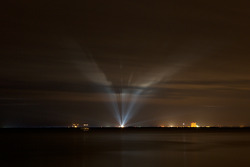 Shuttle STS-130 launch: a view of the launchpad from Space View Park in Titusville