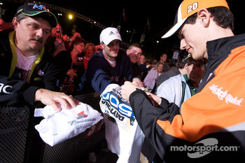 Joey Logano, Joe Gibbs Racing Toyota signs autographs