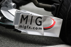 Mercedes GP, W01, detail, front wing